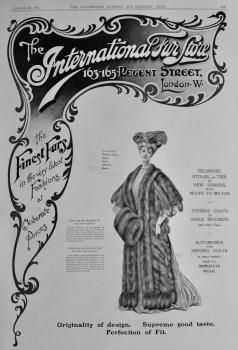 The International Fur Store. 163-165  Regent Street, London W.  1904.