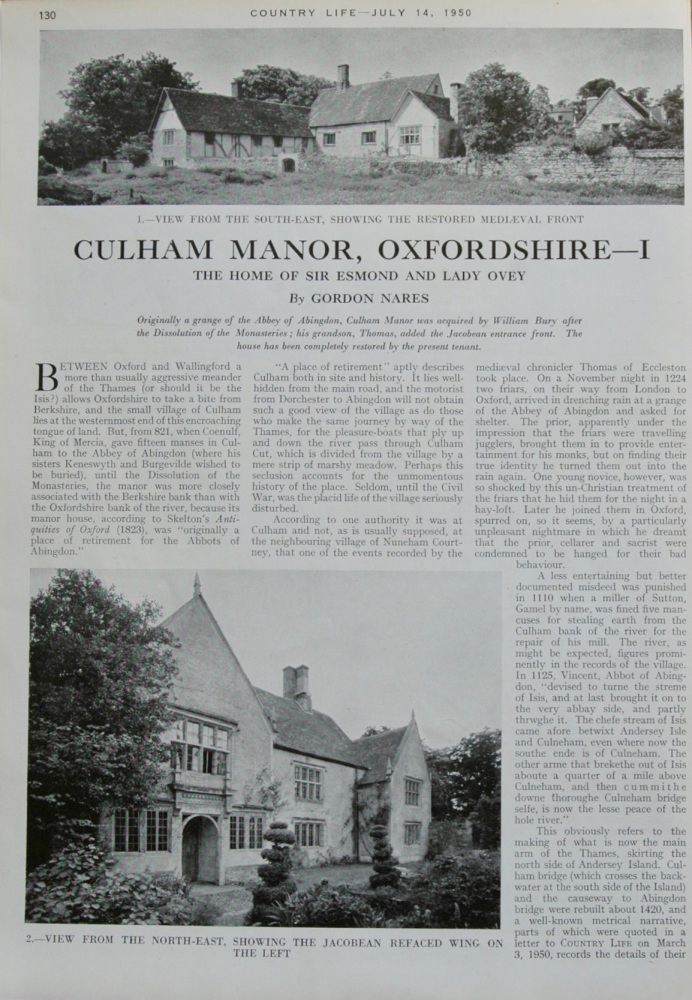 Culham Manor, Oxfordshire - Part 1.  1950.