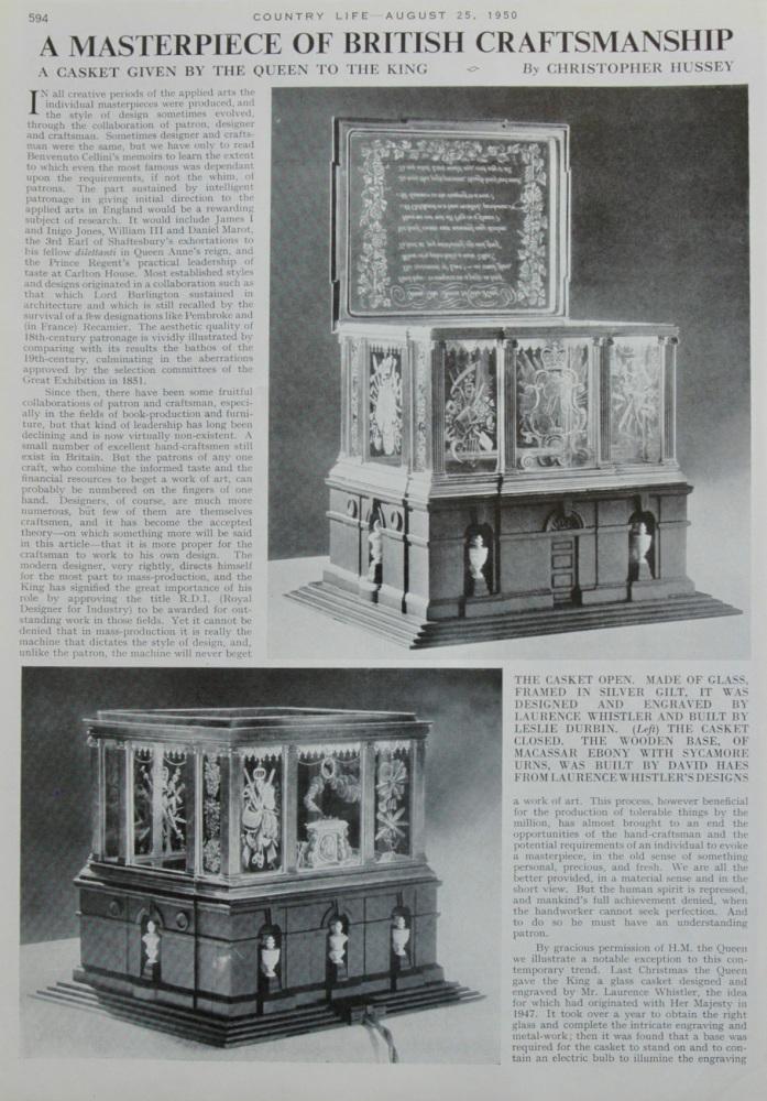 A Masterpiece of British Craftsmanship.  1950.