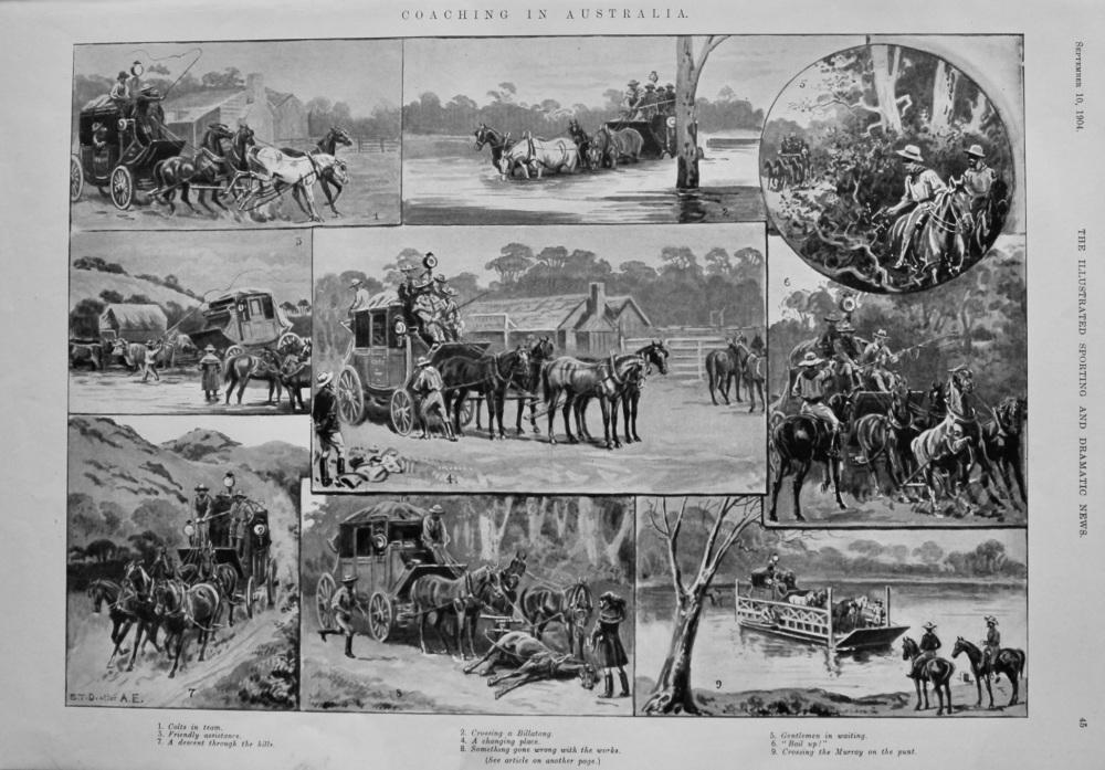 Coaching in Australia. 1904.