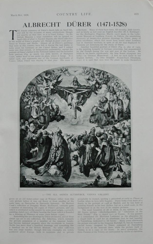 Albrecht Durer. (German Painter).