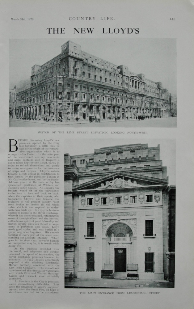 The New Lloyds, 1928