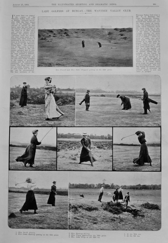 Lady Golfers at Bungay.- The Waveney Valley Club.  1904.