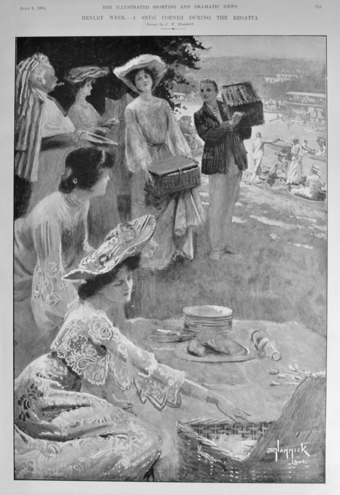 Henley Week.- A Snug Corner During the Regatta. 1904.
