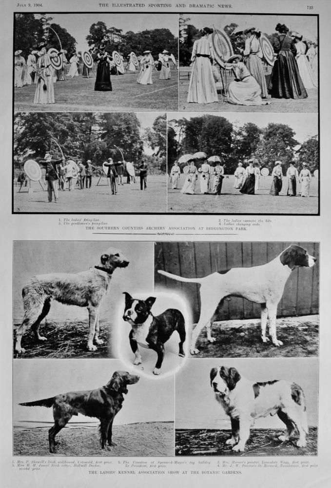 Southern Counties Archery Association at Beddington Park.  1904.