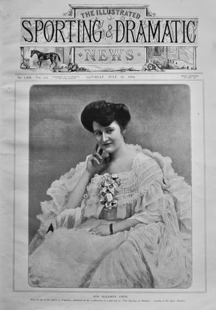 Illustrated Sporting and Dramatic News,  July 16th, 1904.