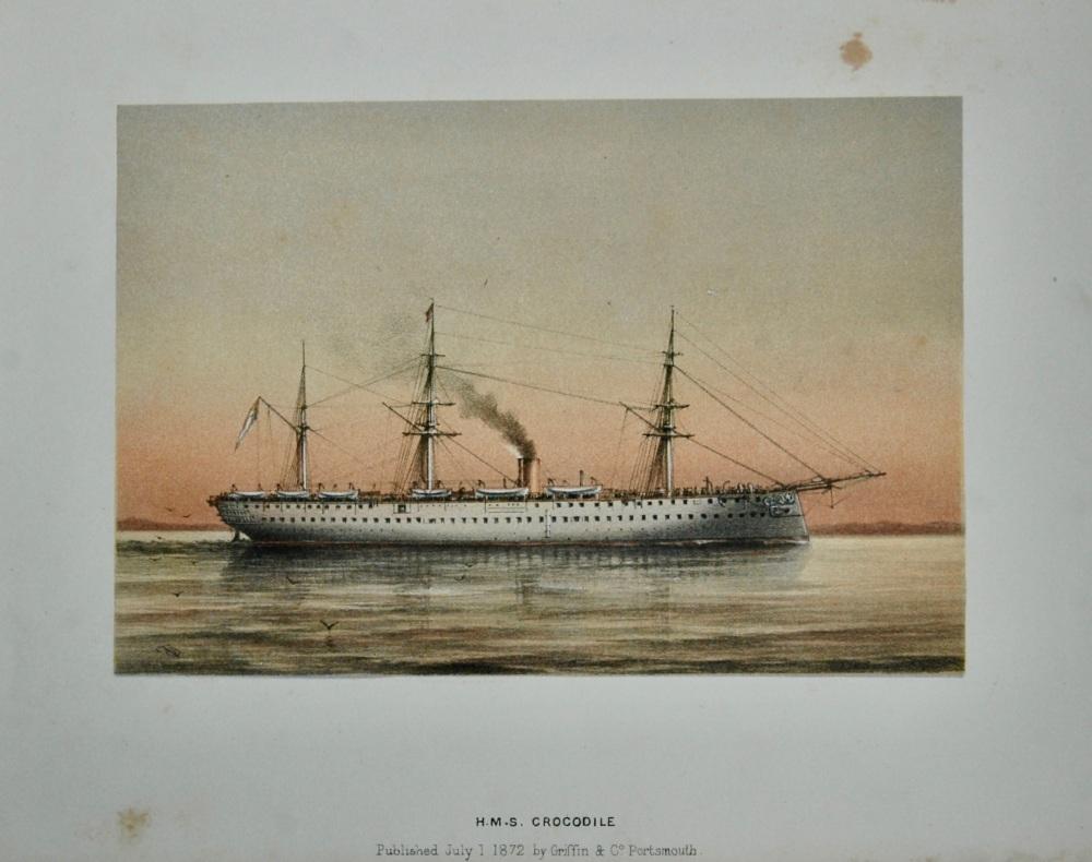 H. M. S.  Crocodile.  (Lithograph) 1873.
