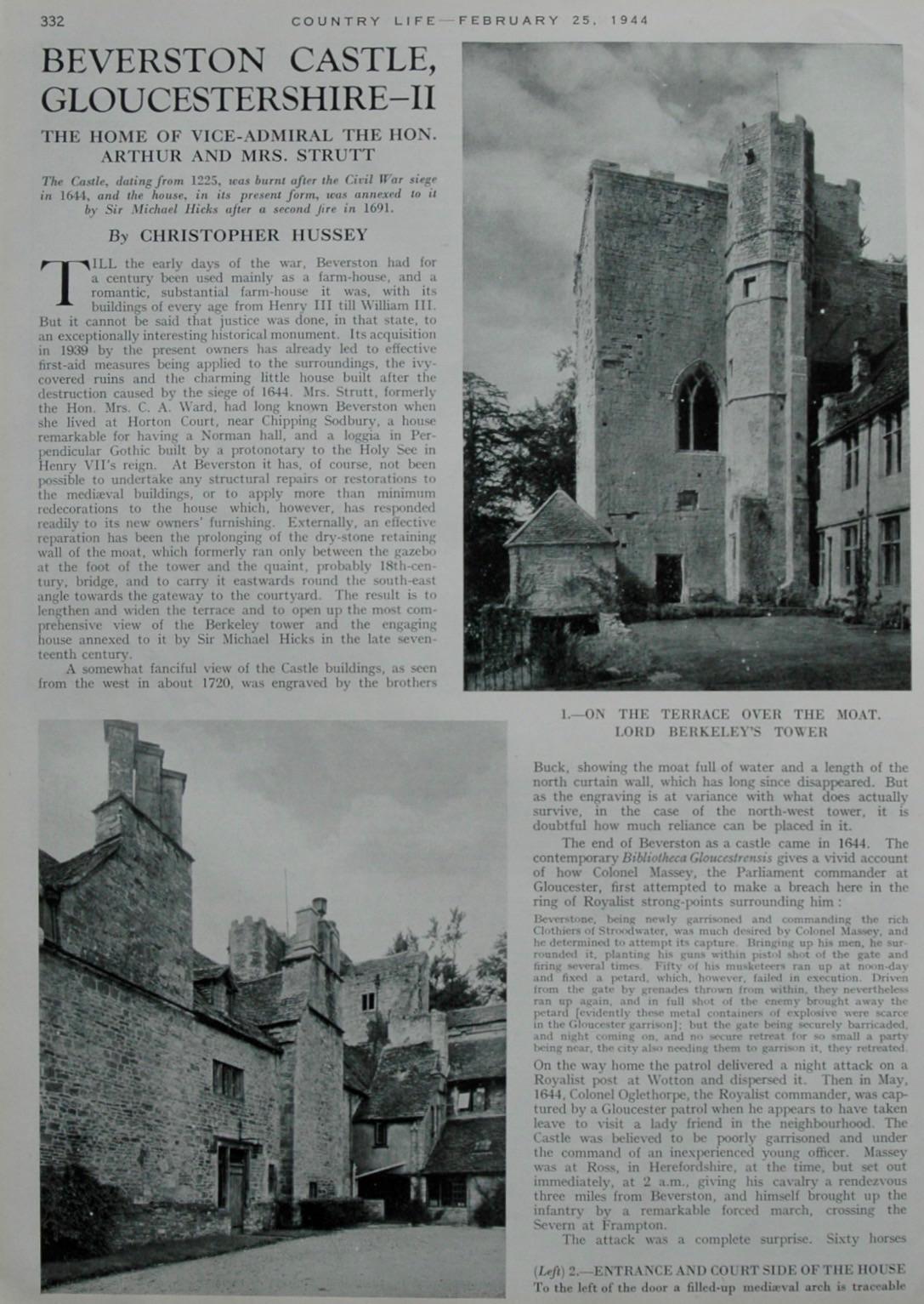 Beverston Castle, Gloucestershire - II