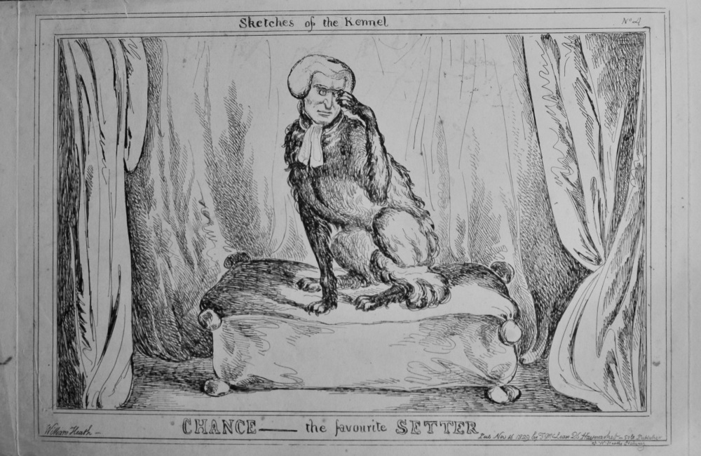 Sketches of the Kennel : Chance- the favourite Setter.  (William Heath)  1838c.
