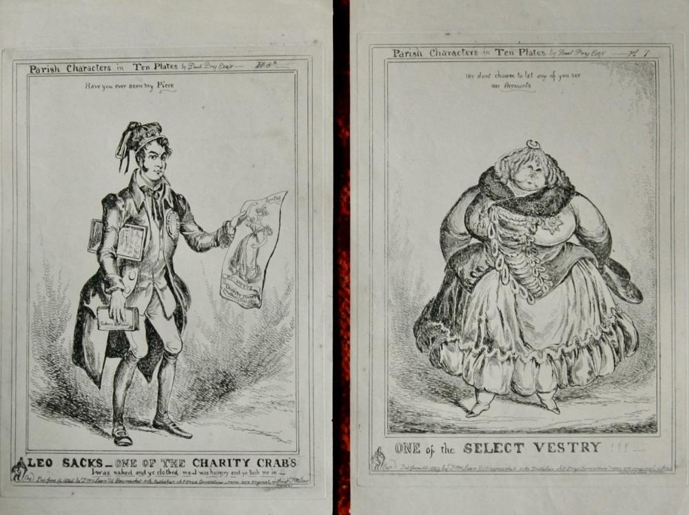 Parish Characters in Ten Plates. (By Paul Fry Esq.)   1838c.