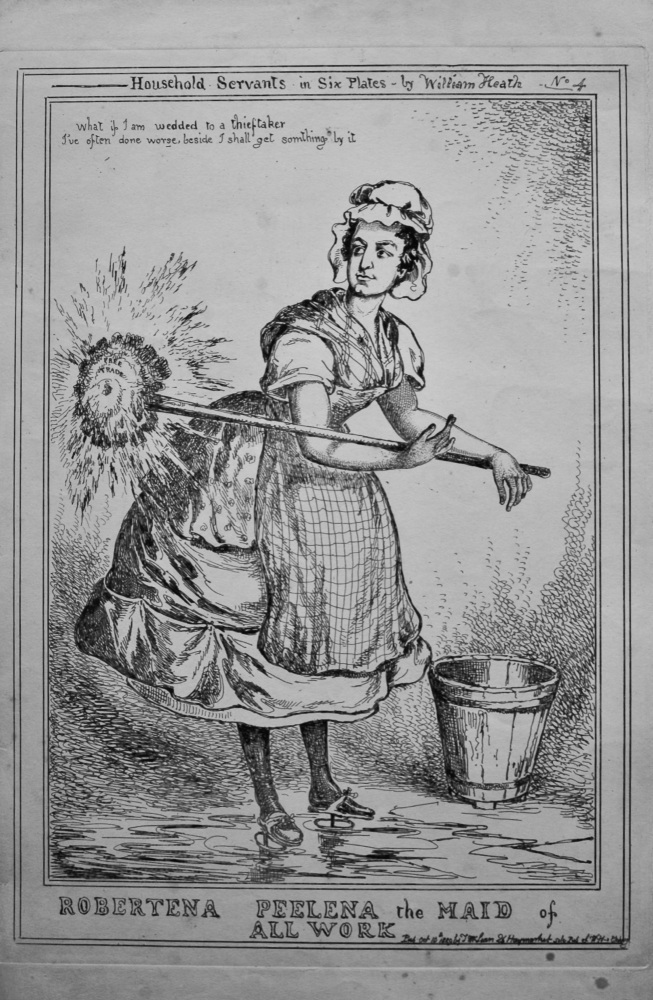 Household Servants  in Six Plates - by William Heath .