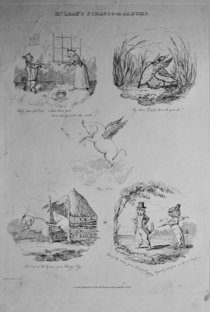 McLean's Scraps from Albums.  1838c.