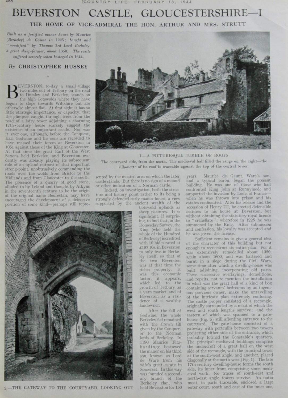 Beverston Castle, Gloucestershire
