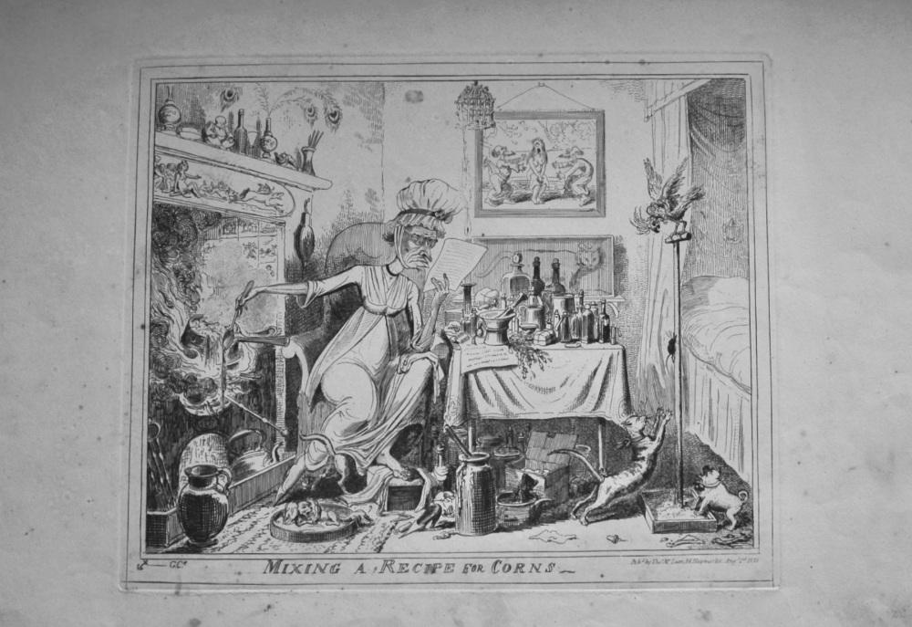 Mixing a Recipe for Corns. (Cruikshank)  1835.