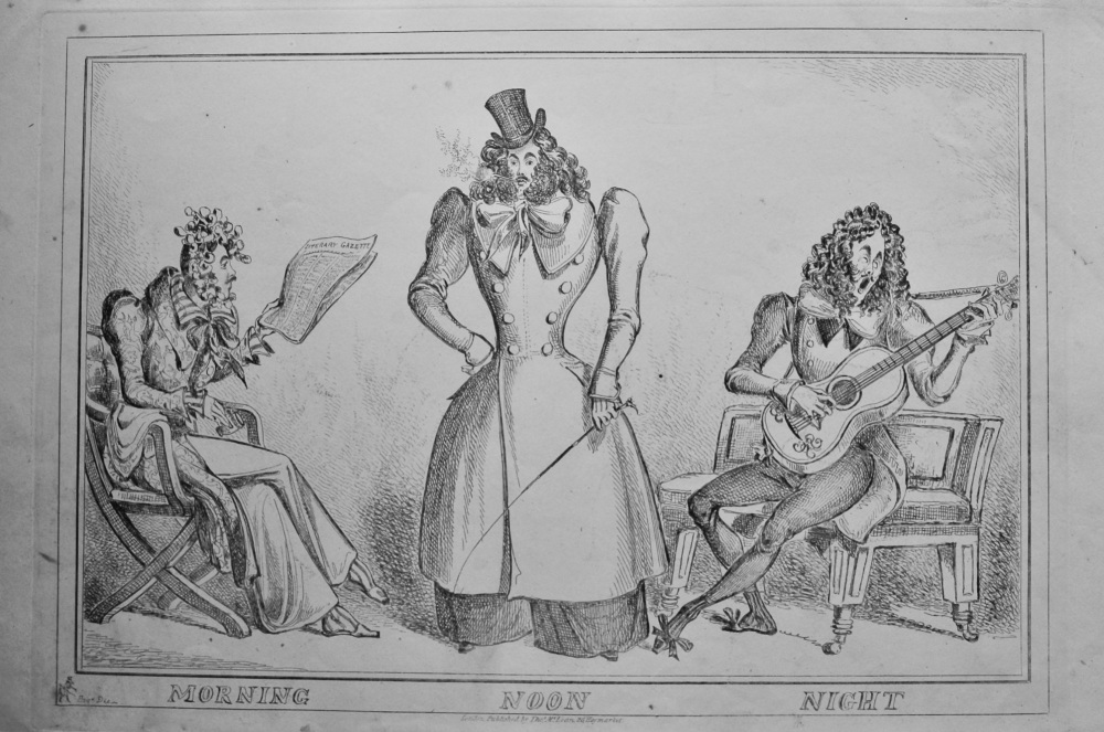 Morning.  Noon.  Night. (William Heath) 1838c.