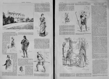 """The Faithfulle Shepherdesse."" at Coombe House.  1885."
