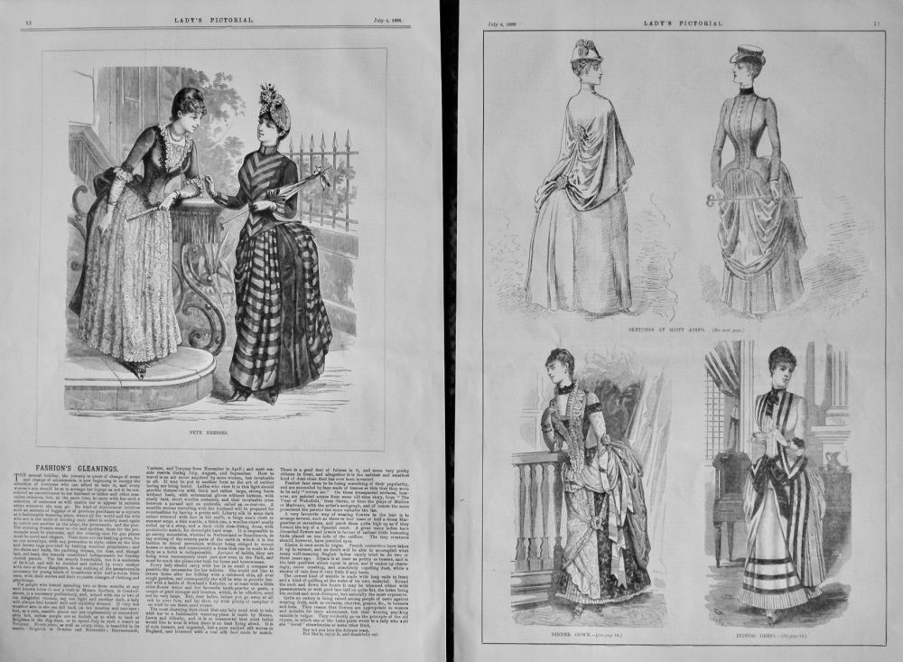 Fashion's Gleanings. 1885.