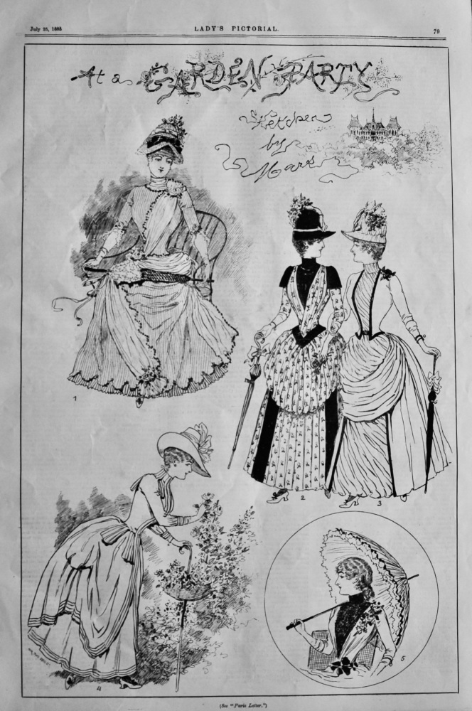 The Garden Party, (Sketches by Mars).  1858.