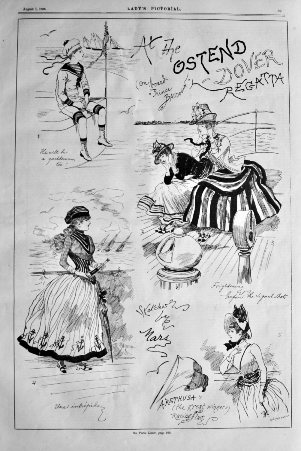 At the Ostend Dover Regatta. &  At Ostend Races.  1885.