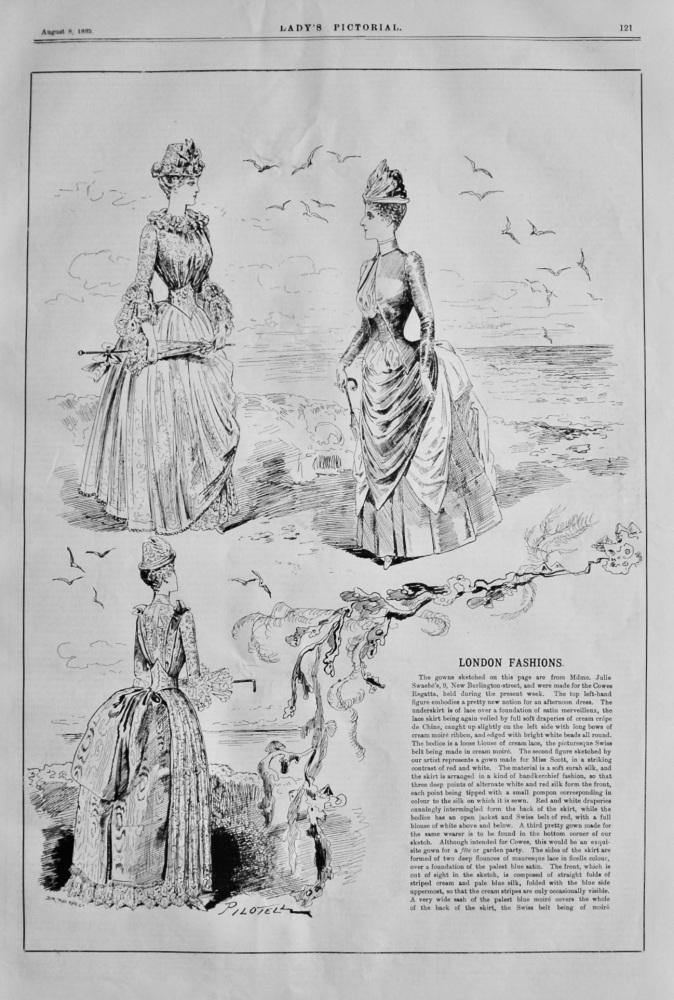 London Fashions.  1885.