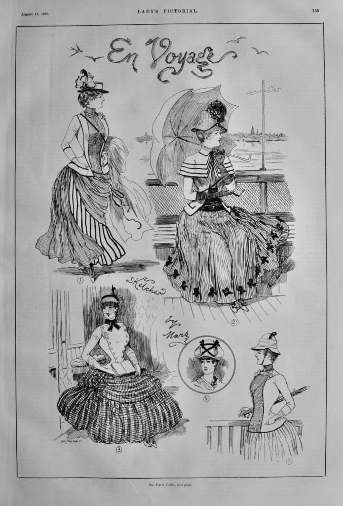 En Voyage. (Drawings by Mars).  1885.