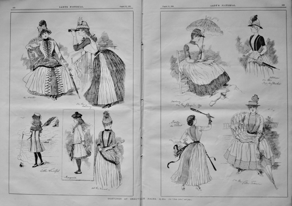 Sketches at Deauville Races.  1885.