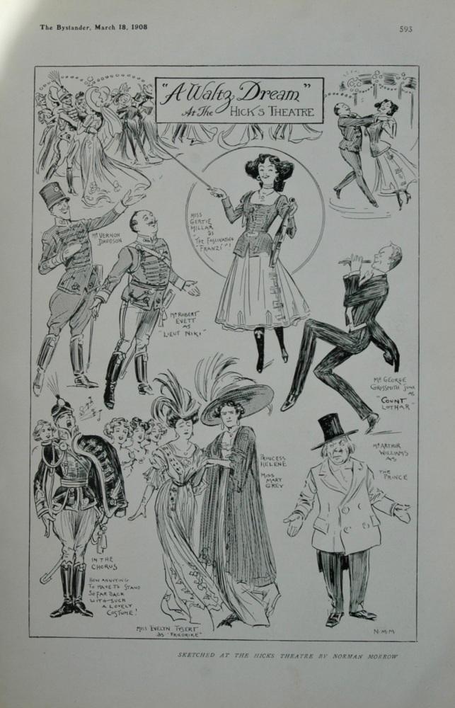 A Waltz Dream at the Hicks Theatre.  1908.