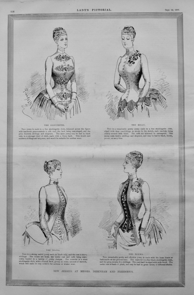 New Jersey's at Messrs.. Debenham and Freebody's.  1885.
