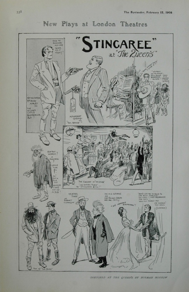 """""""Stingaree""""  at The Queen's Theatre. 1908."""
