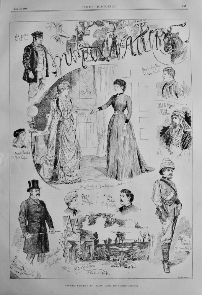 """Human Nature"" at Drury Lane.  1885."