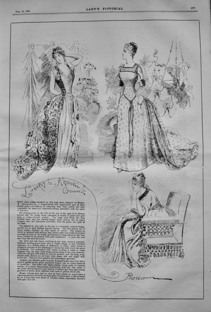 Liberty's Artistic Gowns.  1885.
