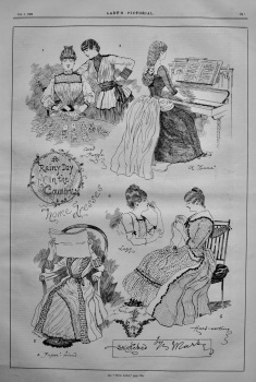 A Rainy Day in the Country : Home Dresses.  1885.