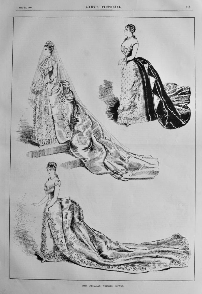 Miss Nevada's Wedding Gowns.  1885.