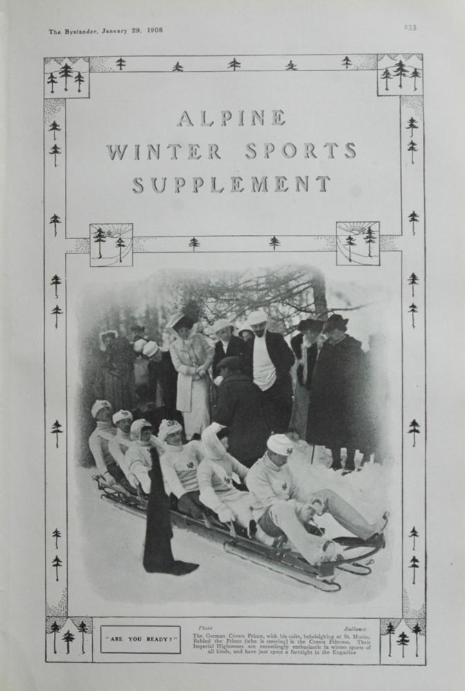 Alpine Winter Sports Supplement. 1908.