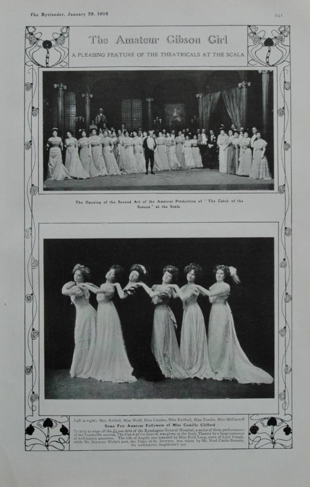 The Amateur Gibson Girl. 1908.