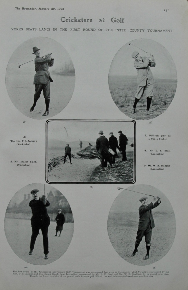 Cricketers at Golf