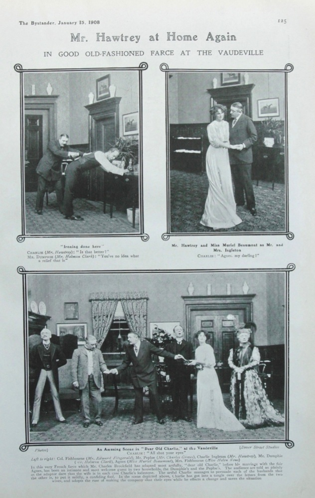 Mr Hawtrey at the Vaudeville