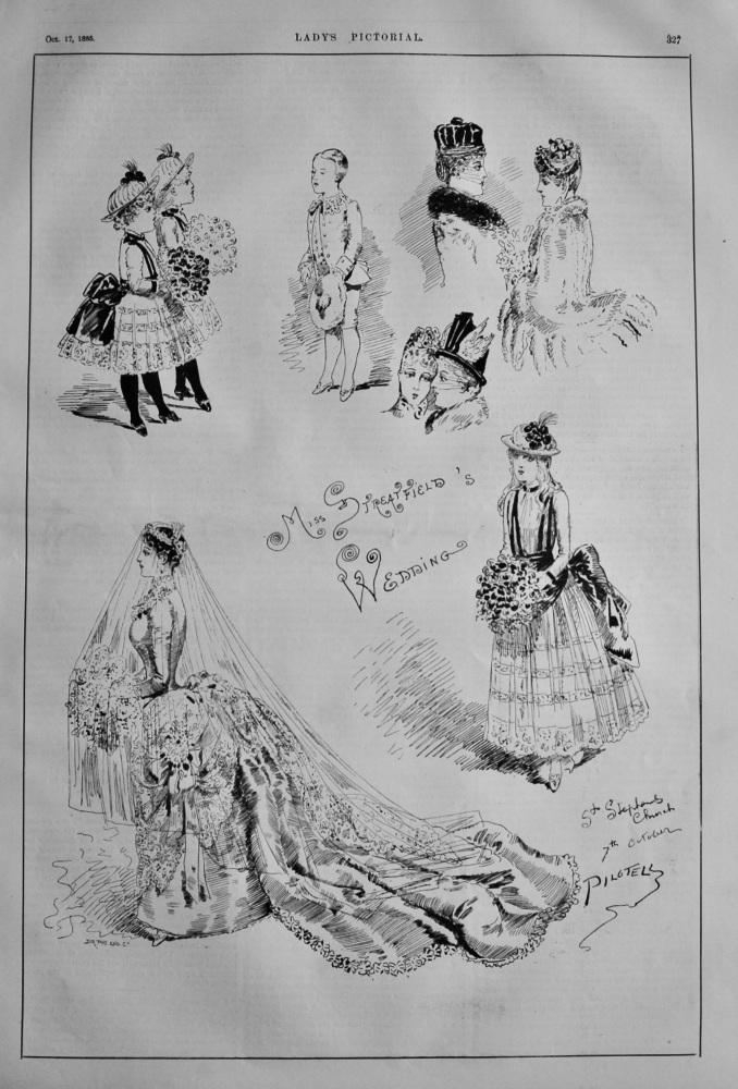 Miss Streatfield's Wedding, St. Stephens Church 7th Oct. 1885.