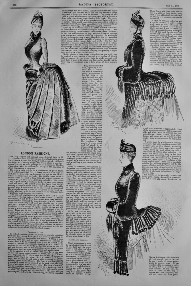 London Fashions. October 24th, 1885.