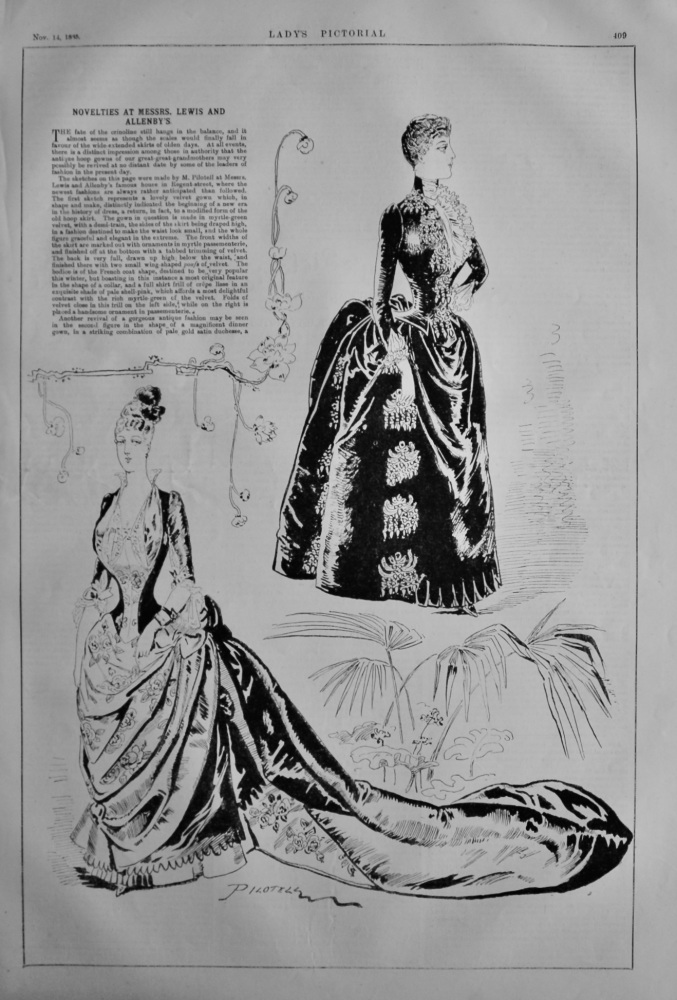 Novelties at Messrs. Lewis an Allenby's.  1885.