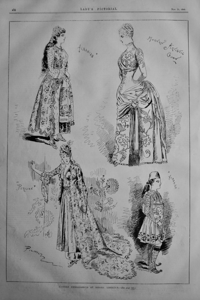 Eastern Embroideries at Messrs. Liberty's.  1885.