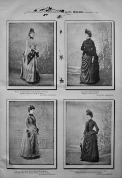Autumn Fashion Supplement,  Lady's Pictorial.- October 17, 1885.