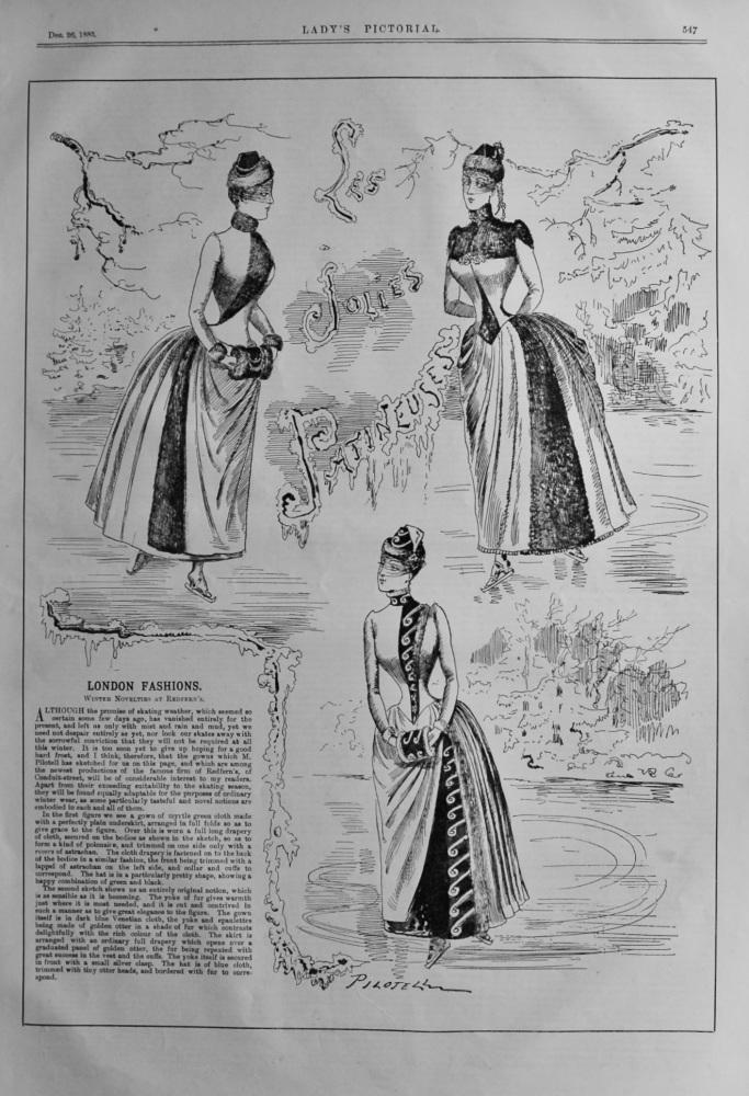 London Fashions . : Winter Novelties at Redfern's.  1885.
