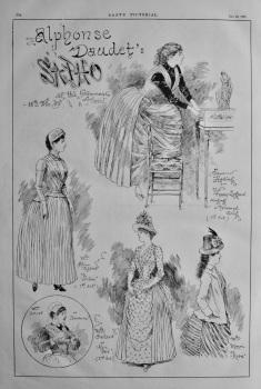 "Alphonse Daudet's ""SAPHO"" at the Gymnase Paris, 18th Dec. 1885."