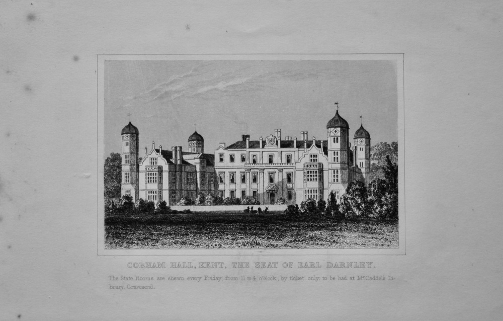 Cobham Hall, Kent. The Seat of Earl Darnley.  1845.