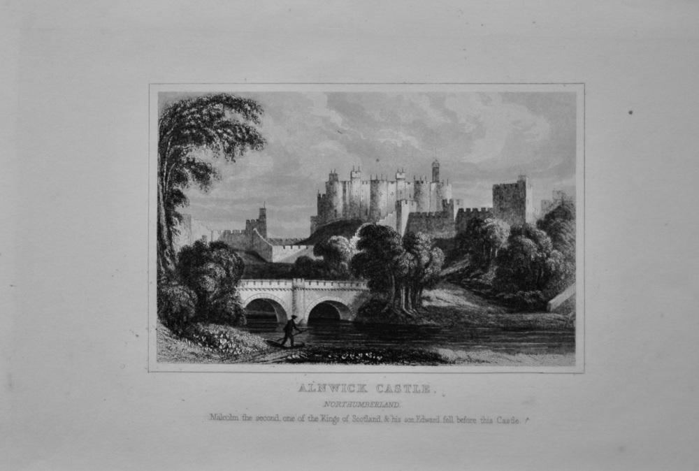 Alnwick Castle. Northumberland.  1845.