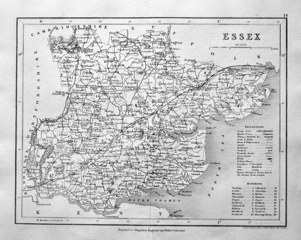 Essex.  (Map)  1845.
