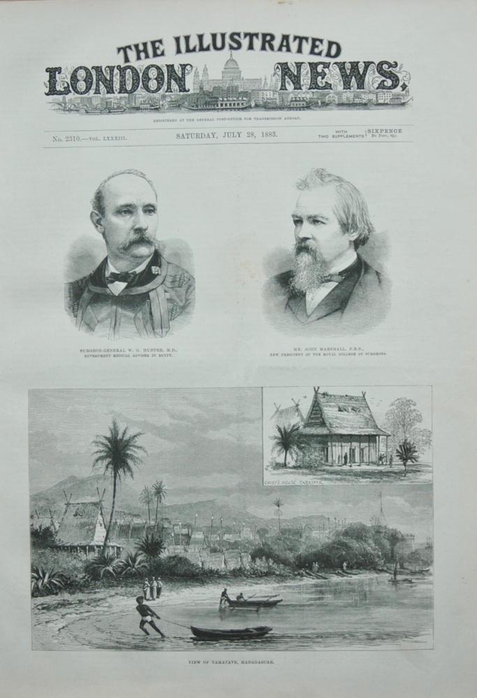 View of Tamatave, Madagascar.  1883.