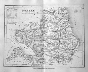 Durham.  (Map)  1845.