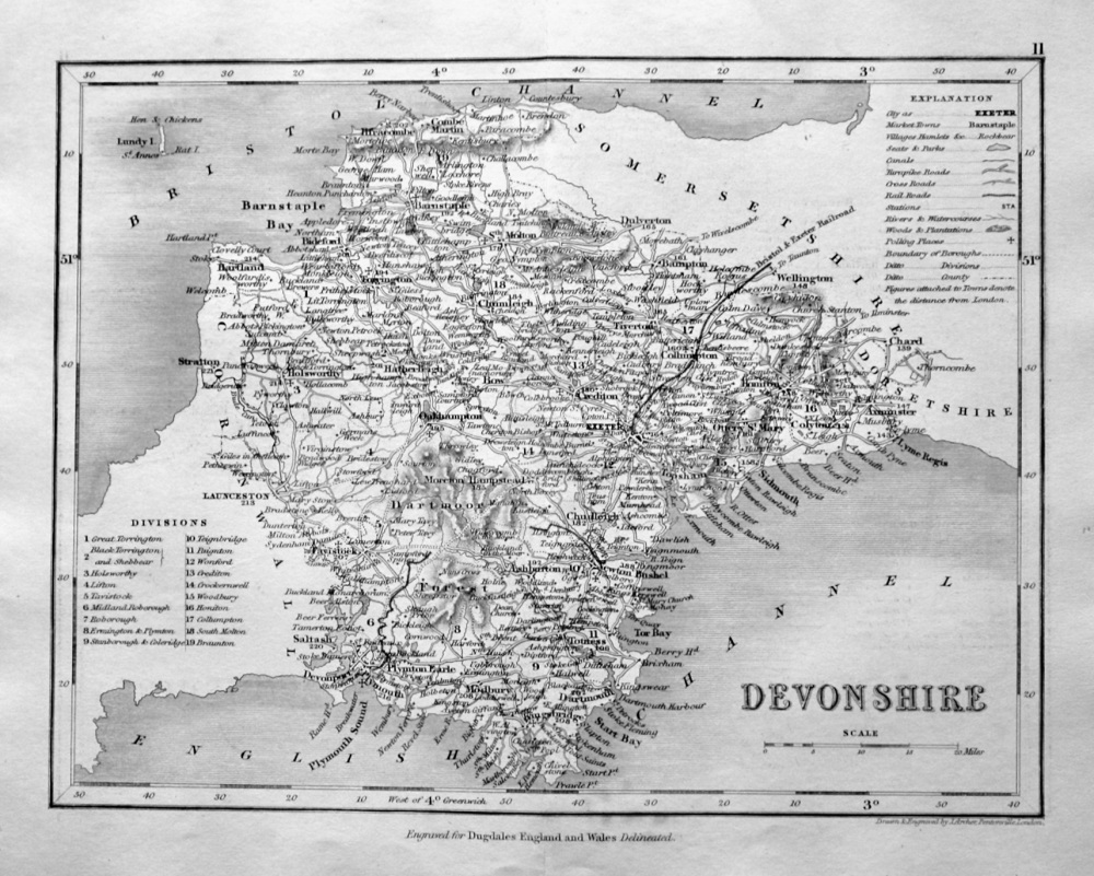Devonshire.  (Map)  1845.